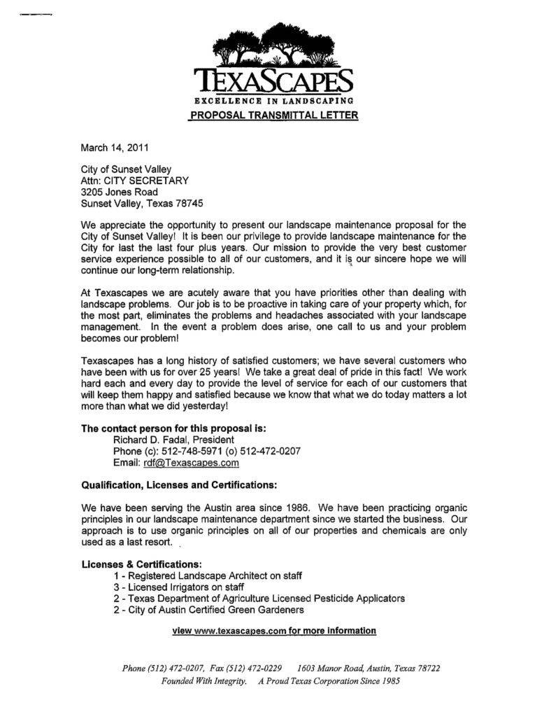 Importance Of Landscaping Proposals In Business  Word Pdf In Landscape Proposal Template