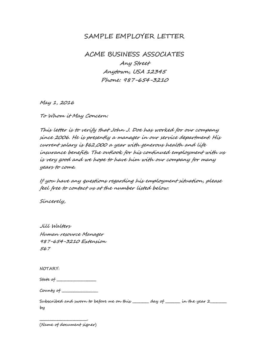 Income Verification Letter Samples  Proof Of Income Letters For Proof Of Income Letter Template