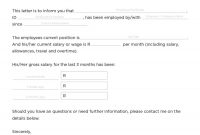 Income Verification Letter Samples  Proof Of Income Letters in Proof Of Income Letter Template