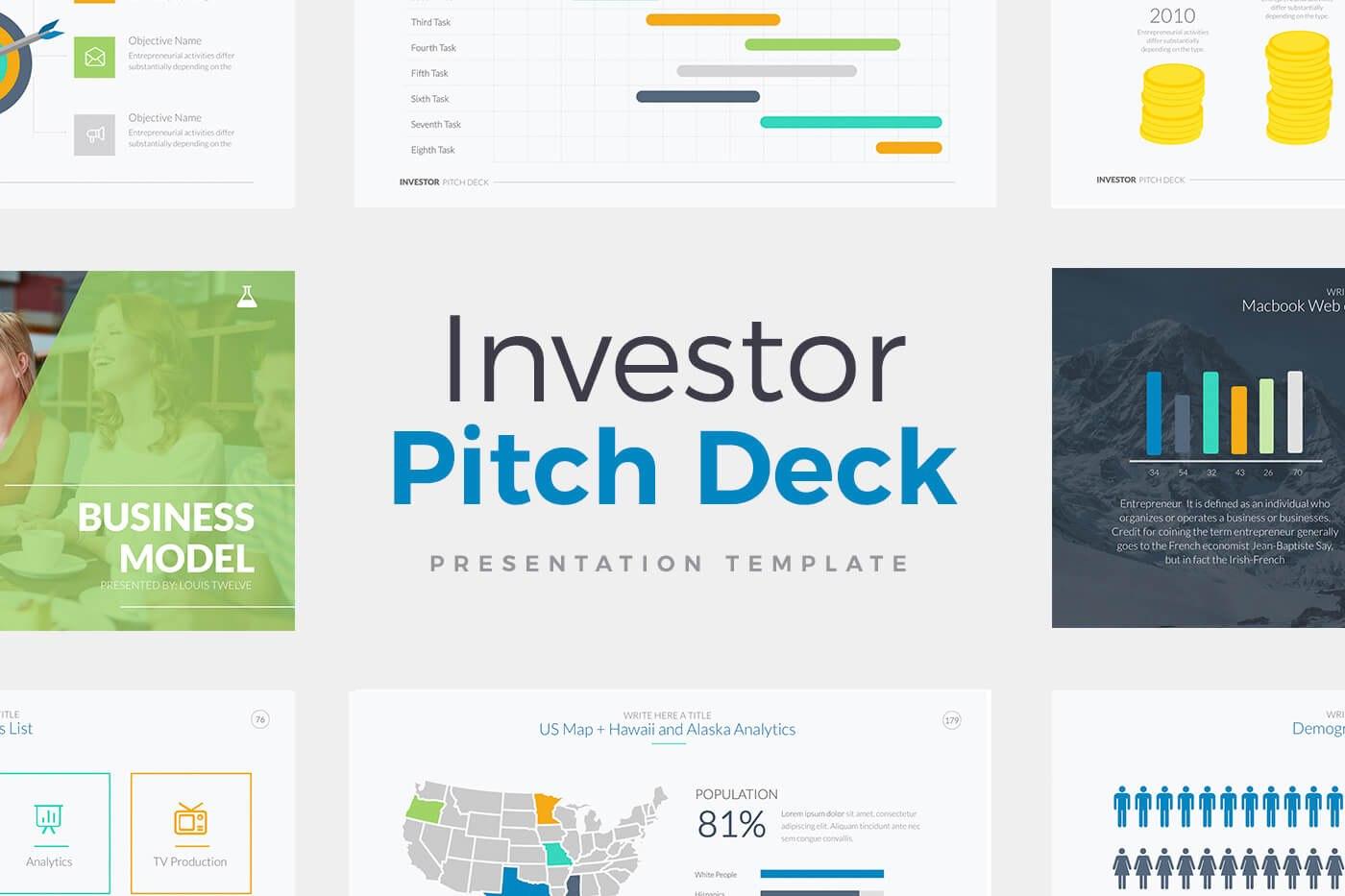 Investor Pitch Deck  Presentation Powerpoint Template Pptx Within Investor Presentation Template