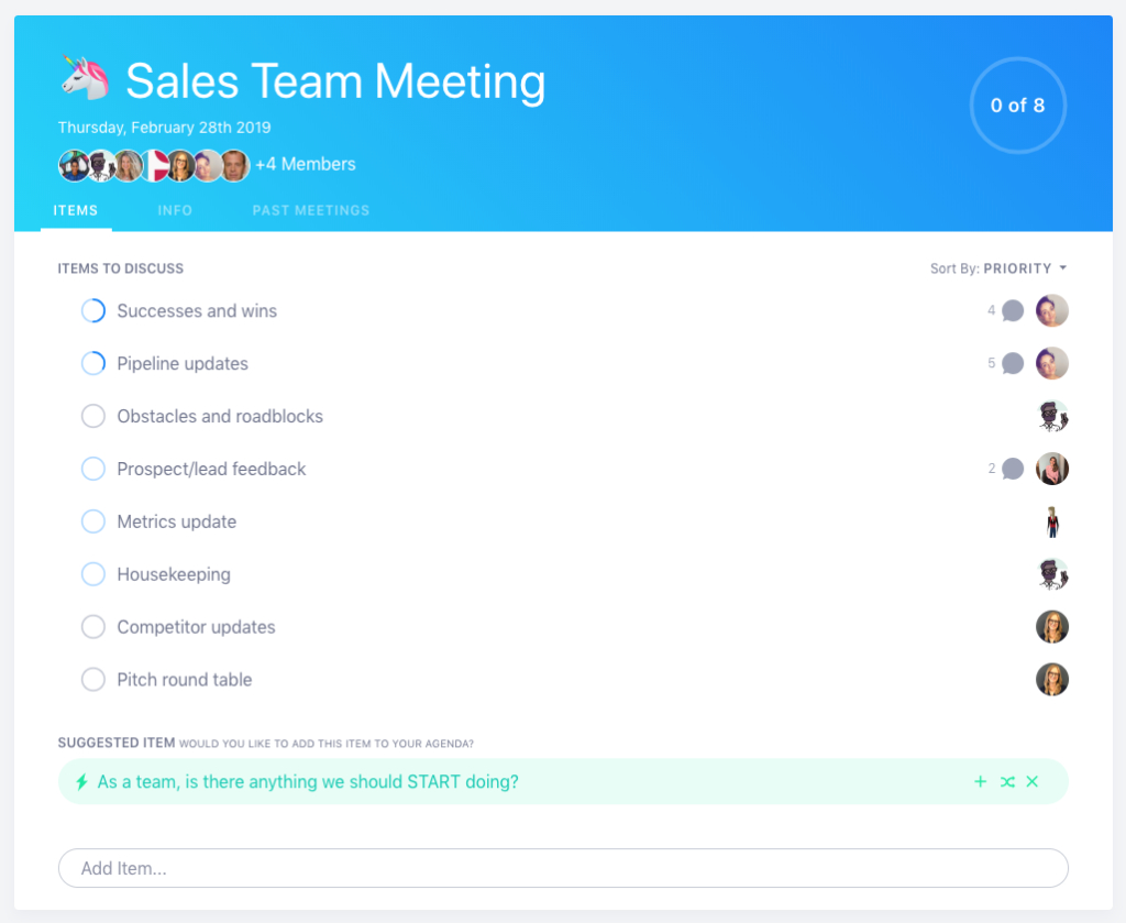 Items To Add To Your Sales Meeting Agenda  Soapbox Intended For Sales Meeting Agenda Template