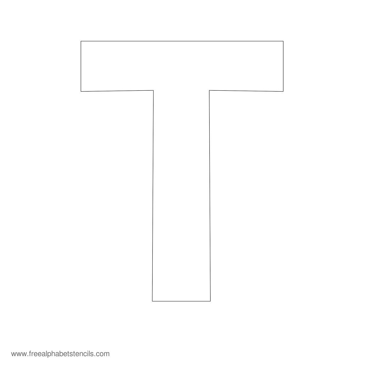 Large Alphabet Stencils  Freealphabetstencils Throughout Large Letter Templates