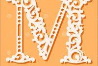 Laser Cut Template Initial Monogram Letters Fancy Floral Alphabet for Fancy Alphabet Letter Templates
