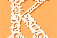 Laser Cut Template Initial Monogram Letters Fancy Floral Alphabet inside Fancy Alphabet Letter Templates