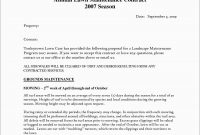 Lawn Service Proposal Template Free Awesome  Landscaping Estimate within Landscape Proposal Template