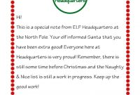 Letter From Elf On The Shelf  Scribd  Kid Stuff  Elf Letters Elf intended for Elf On The Shelf Letter From Santa Template