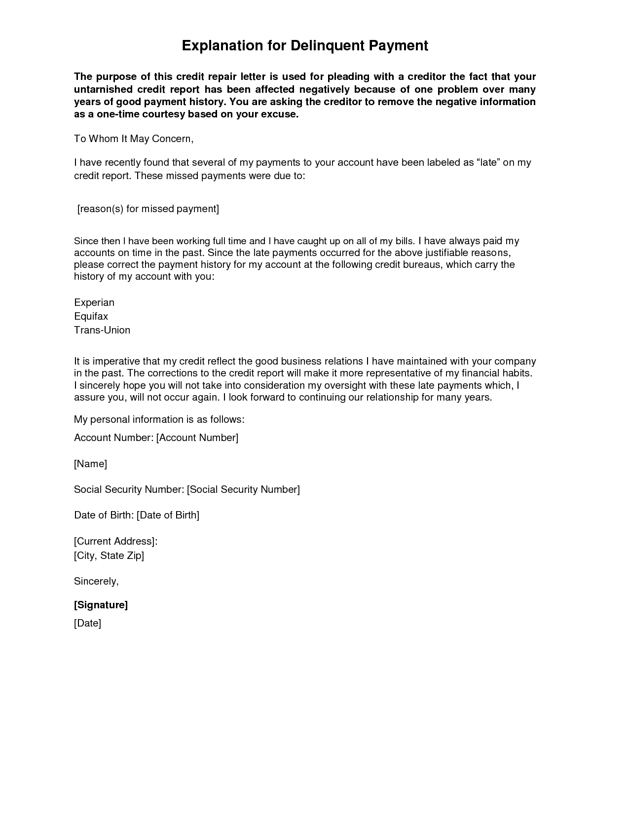 Letter Of Explanation Template  Resume Cover Letter Template Inside With Regard To Letter Of Explanation Template