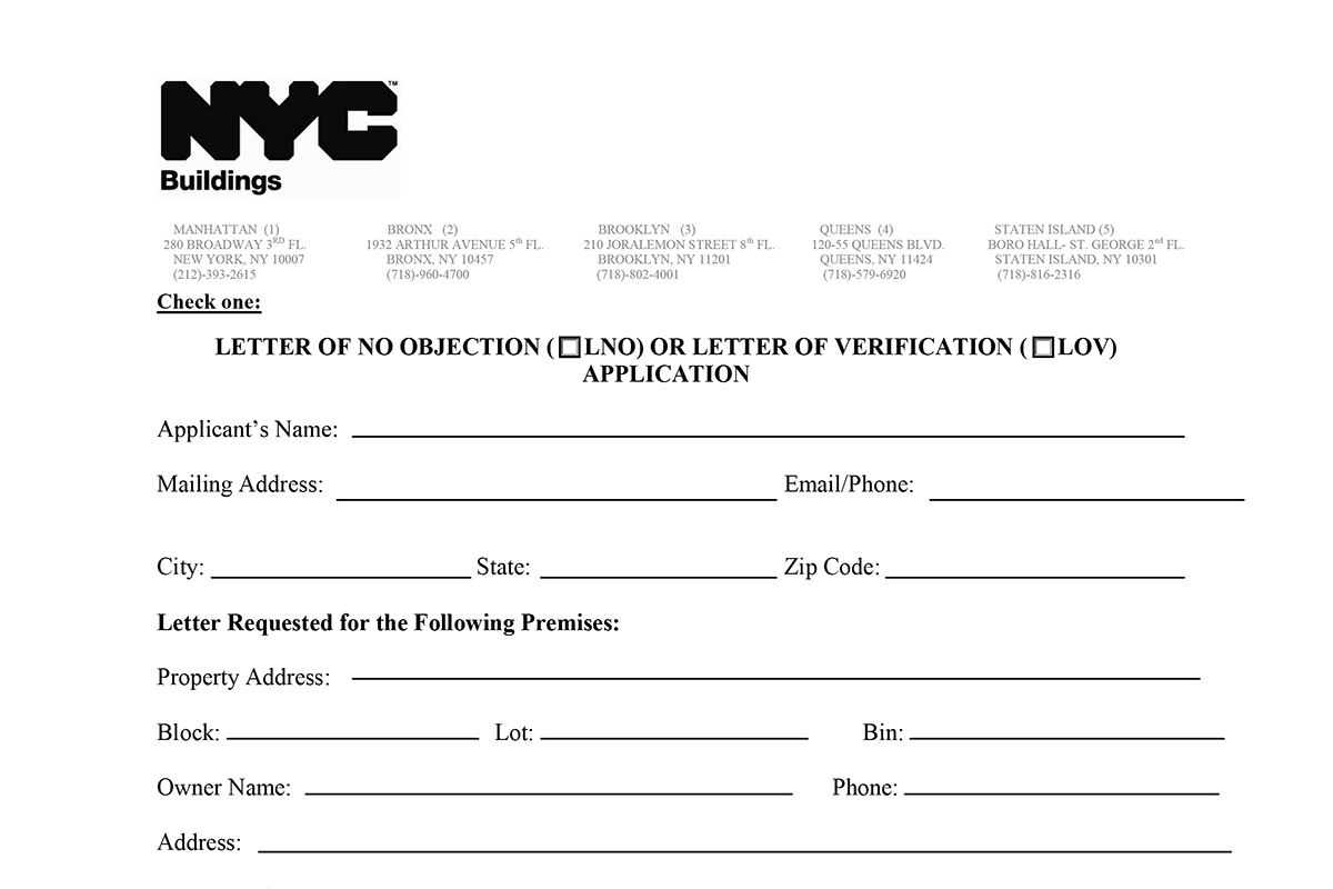 Letter Of No Objection Applications · Fontan Architecture Throughout Letter Of Objection Template