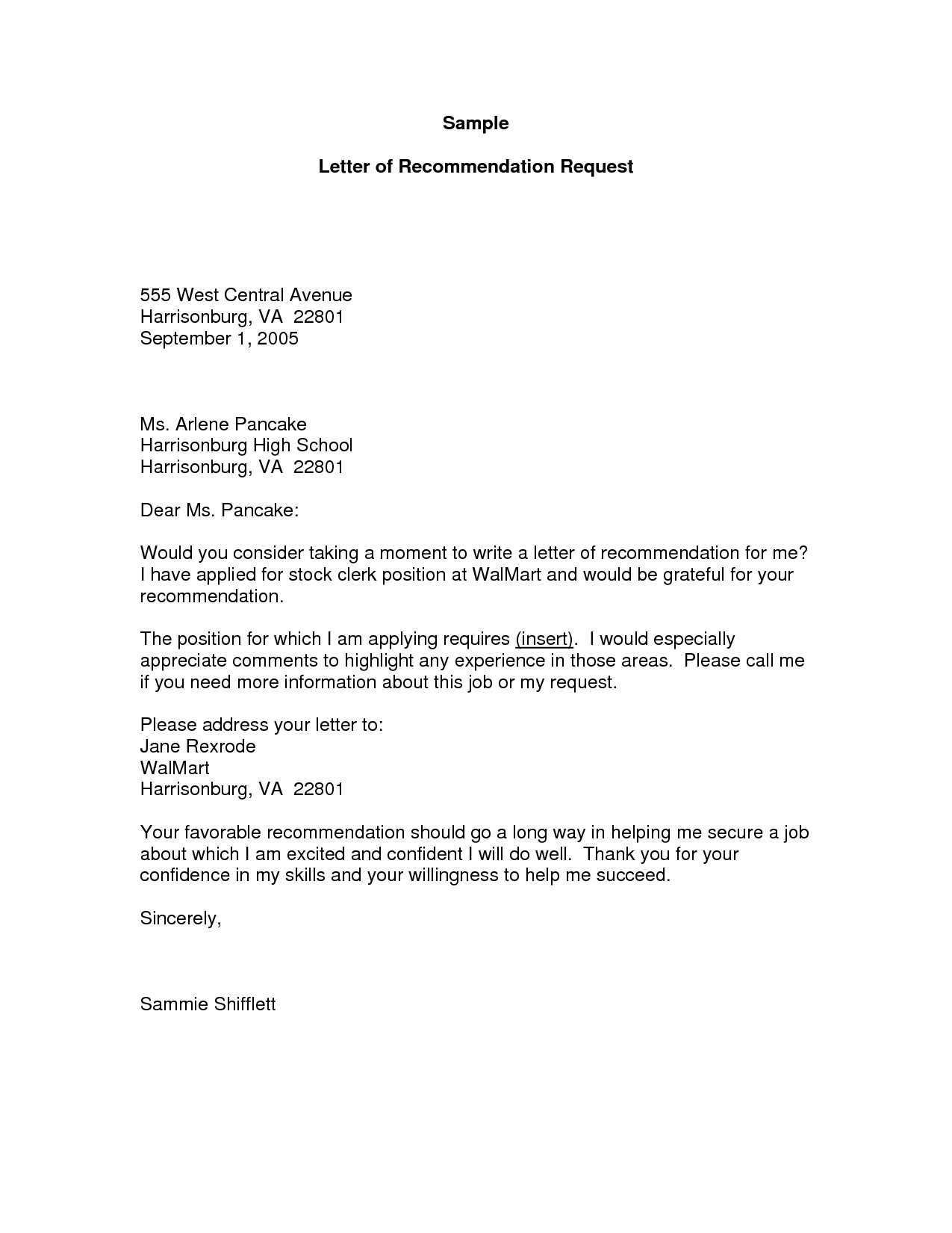Letter Of Recommendation Request Template  Template Business For Letter Of Recommendation Request Template