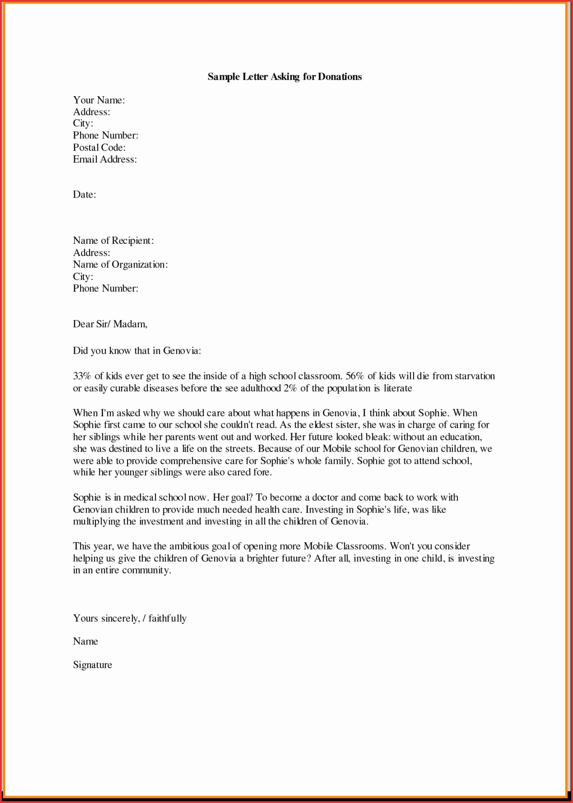 Letter Template For Donations School New Donation Request Throughout Letter Template For Donations Request