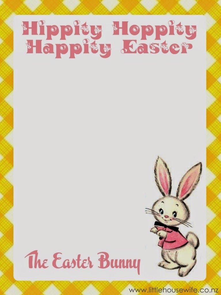 Little Housewife Free Easter Printable  Letter From The Easter With Regard To Letter To Easter Bunny Template