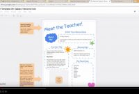 Meet The Teacher Template With Seesaw Printable Welcome Note throughout Meet The Teacher Letter Template
