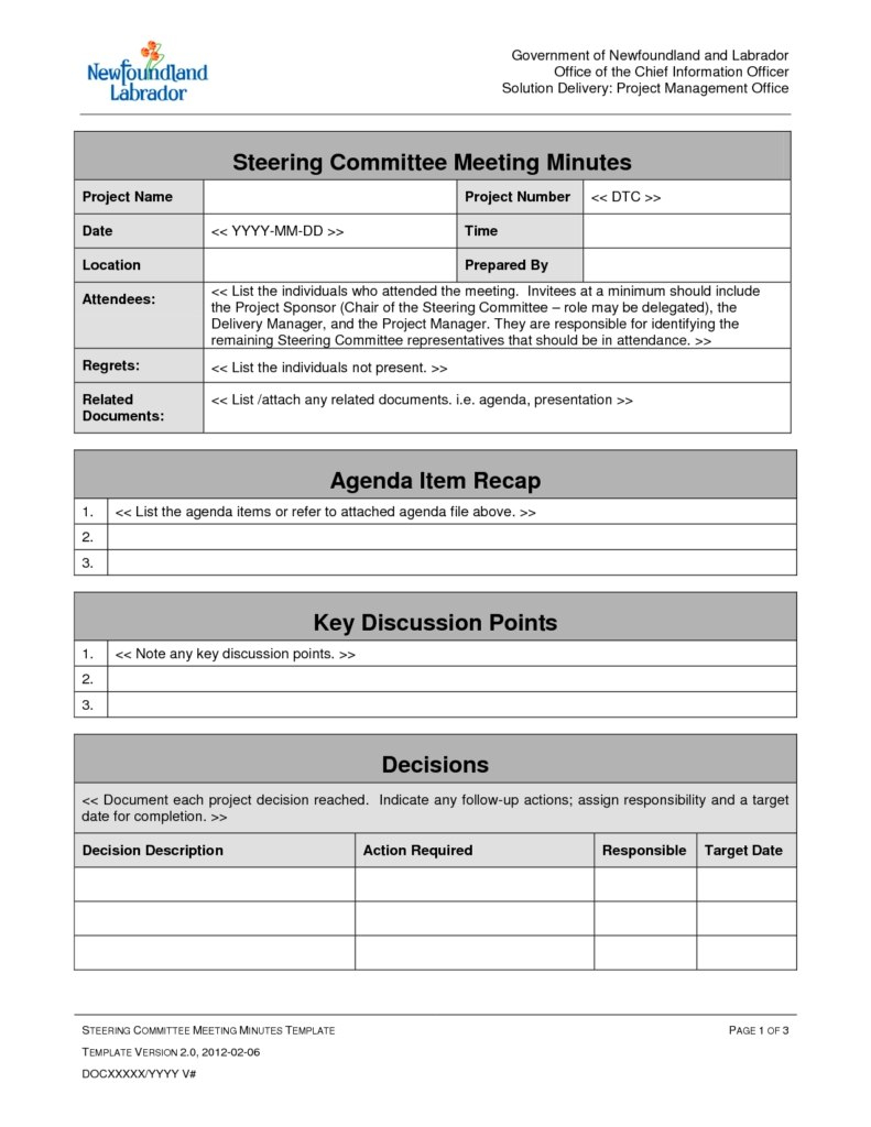 Meeting Agenda Template Doc Best Templates Project Management Throughout Agenda Template Word 2007