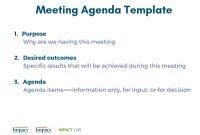 Meeting Agenda Template Simple Yet Powerful Tool For Kickstarting within Simple Meeting Agenda Template