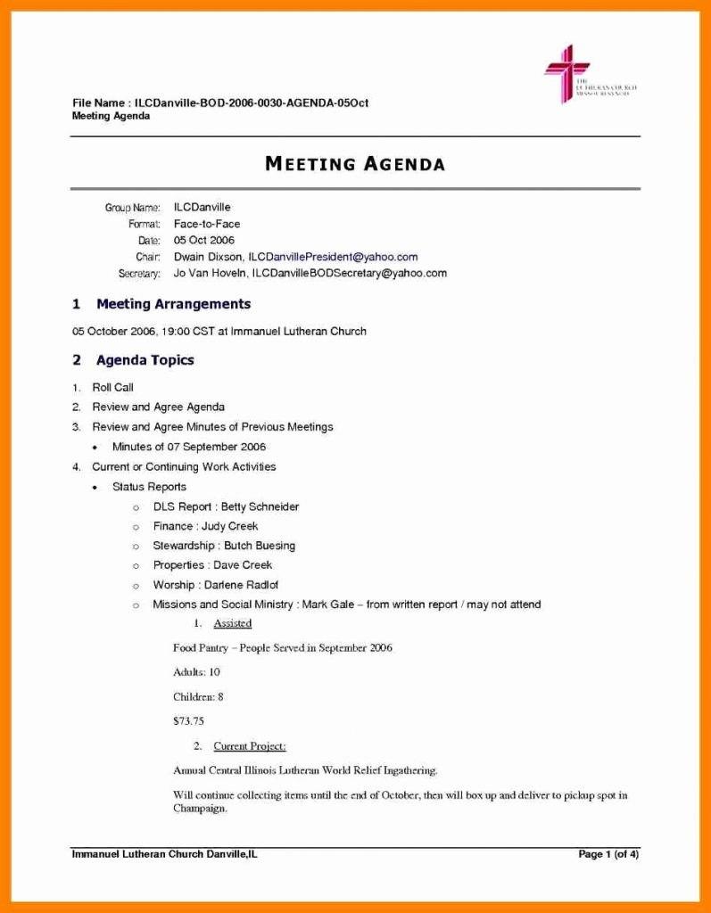 Meetingda And Format Simple Free Basic Formal Sample Of Meeting In Simple Meeting Agenda Template