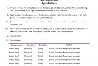 Minutes  Office intended for Meeting Agenda Template Word 2010