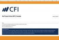 Net Present Value Npv Excel Template  Cfi Marketplace intended for Net Present Value Excel Template