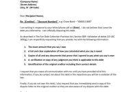 New Debt Validation Letter Sample Download  Letterbuis inside Debt Validation Letter Template