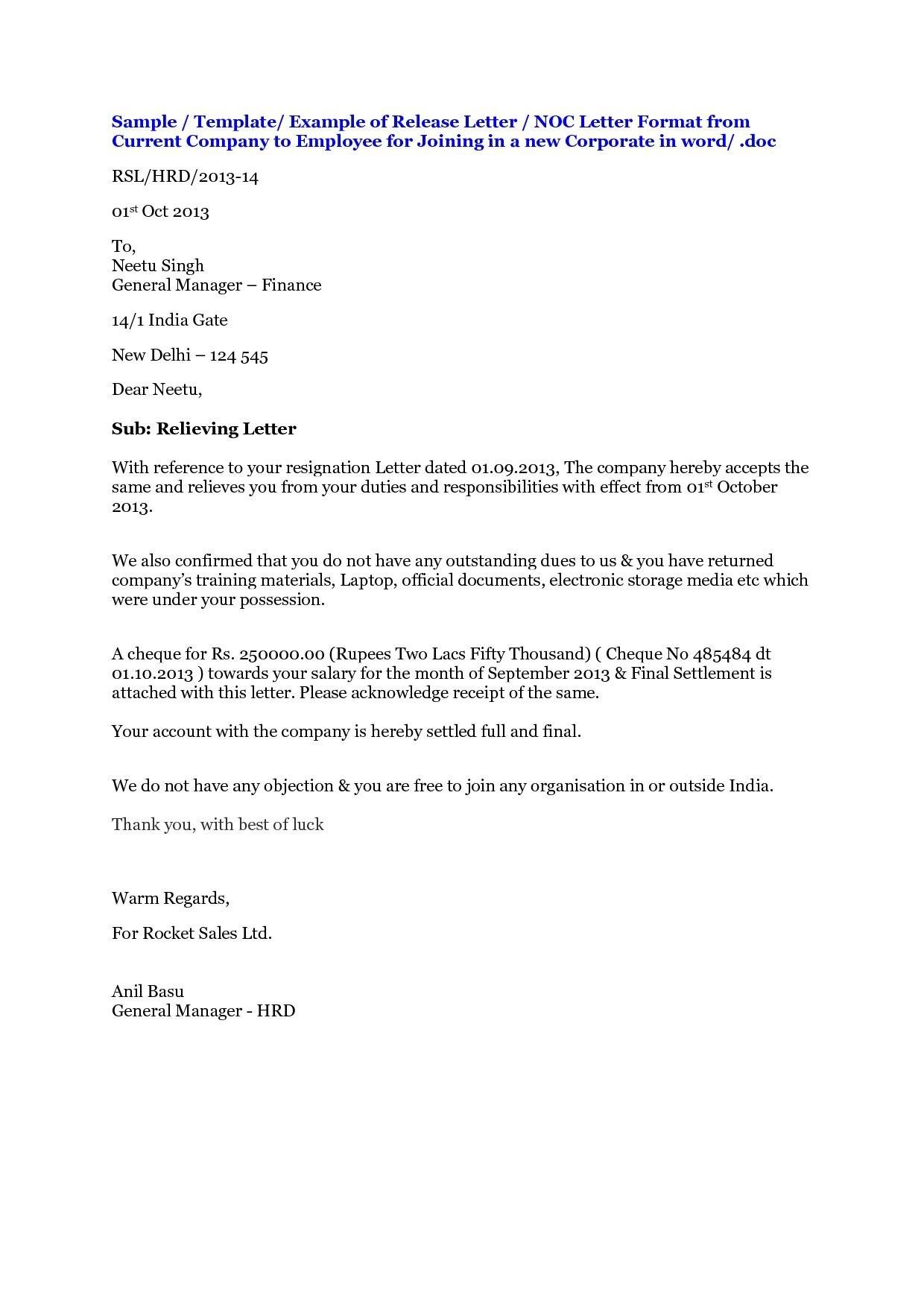 No Objection Letter Format For Employer Shopgrat  Krishna Kanta Bag Inside Letter Of Objection Template
