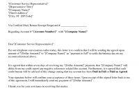 Picture  Of   Debt Settlement Agreement Letter Sample regarding Pay For Delete Letter Template