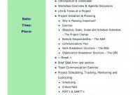 Plan Templates S M P L Y W O R K H G N Overview Agenda Workshop intended for Workshop Agenda Template