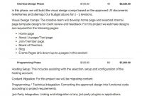 Planning For Web Design With Document Samples regarding Web Development Proposal Template
