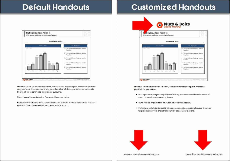 Powerpoint Handout Template Brochures Free Templates Presentation Regarding Presentation Handout Template