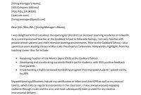 Preschool Teacher Cover Letter Example  Writing Tips  Resume Genius with Letter I Template For Preschool
