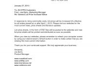 Price Increase Letter To Customers  Dayinblackandwhite throughout Price Increase Letter Template