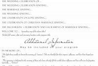 Printable Wedding Program Examples  Templates ᐅ Template Lab pertaining to Wedding Agenda Template