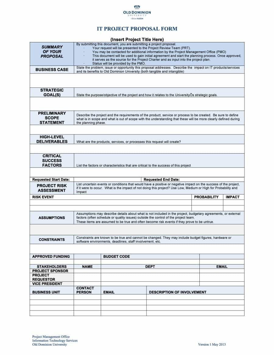 Professional Project Proposal Templates ᐅ Template Lab For It Project Proposal Template