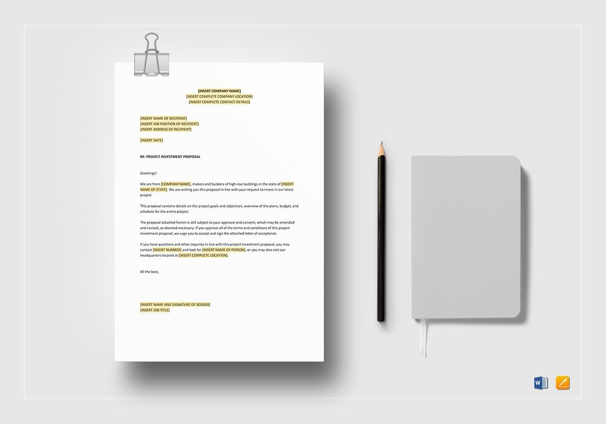 Project Investment Proposal Template Regarding Investment Proposal Template