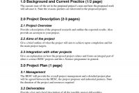 Project Management Outline Example Proposal Template Free Best within Project Management Proposal Template