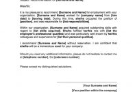 Reference Letter Template  Free Hr Tools  Agendrix within Letter Of Rec Template