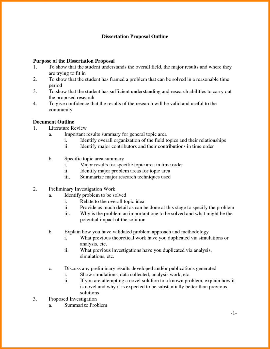 Research Methodology Ssertation Proposal Outline Example Imzadi Regarding Research Proposal Outline Template