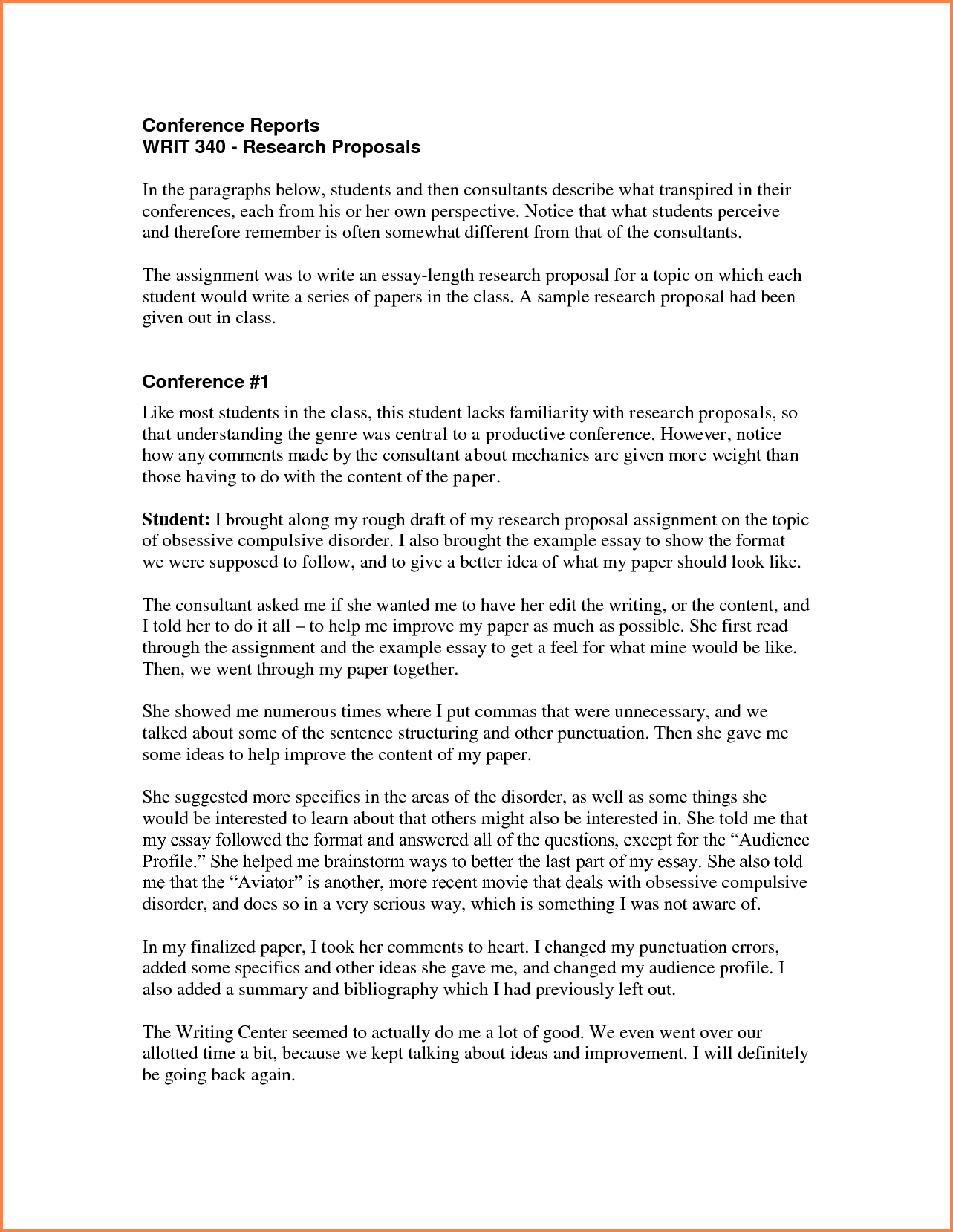 Research Paper Proposal Example How To Write In Apa Format Throughout Conference Proposal Template
