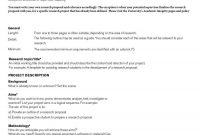 Research Proposal Template  Research Proposal Template Free for Equipment Proposal Template