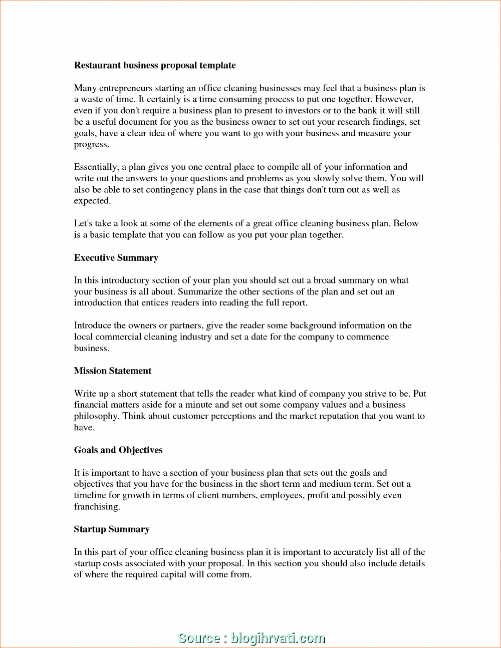 Restaurant Business Plan Template Templates Fantastic Excel Pdf With Restaurant Business Proposal Template