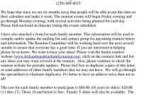 Reunion Activities  Hicks  Pitts  Jenkins Family Reunion within Free Family Reunion Letter Templates