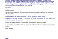 Salary Increase Request Letter Employer Pay Rise Claim Sample Doc within Salary Increase Letter To Employer Template