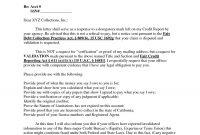 Sample Debt Validation Letter Template – Blendu inside Debt Validation Letter Template