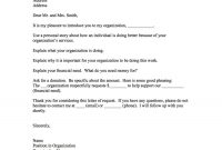 Sample Donation Request Letter And Donation Card – The Nonprofit Guru throughout Letter Template For Donations Request