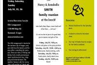 Sample Family Reunion Invitation Flyer  Ideas For Family Reunions throughout Free Family Reunion Letter Templates