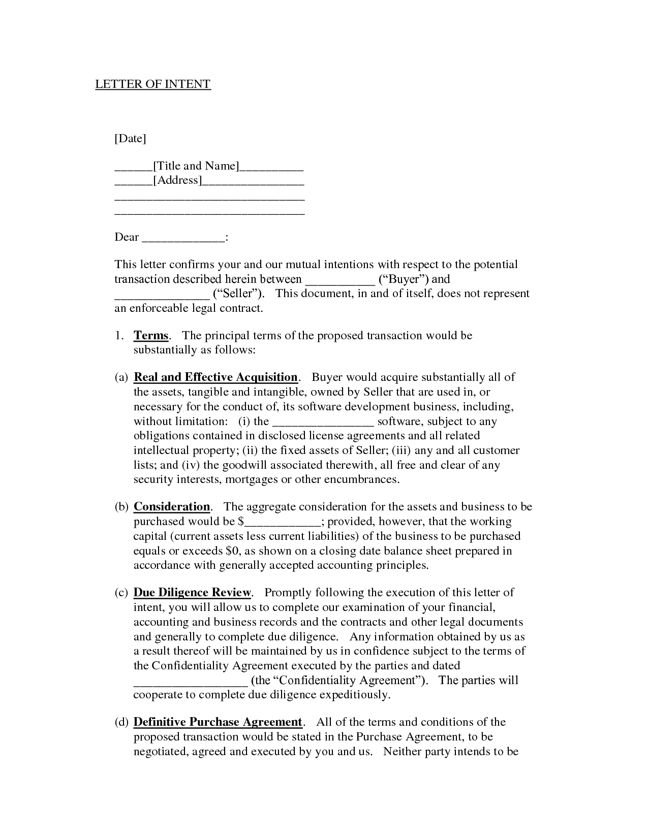 Sample Letter Of Intentwhitecheese  Letter Of Understanding Inside Letter Of Intent For Real Estate Purchase Template