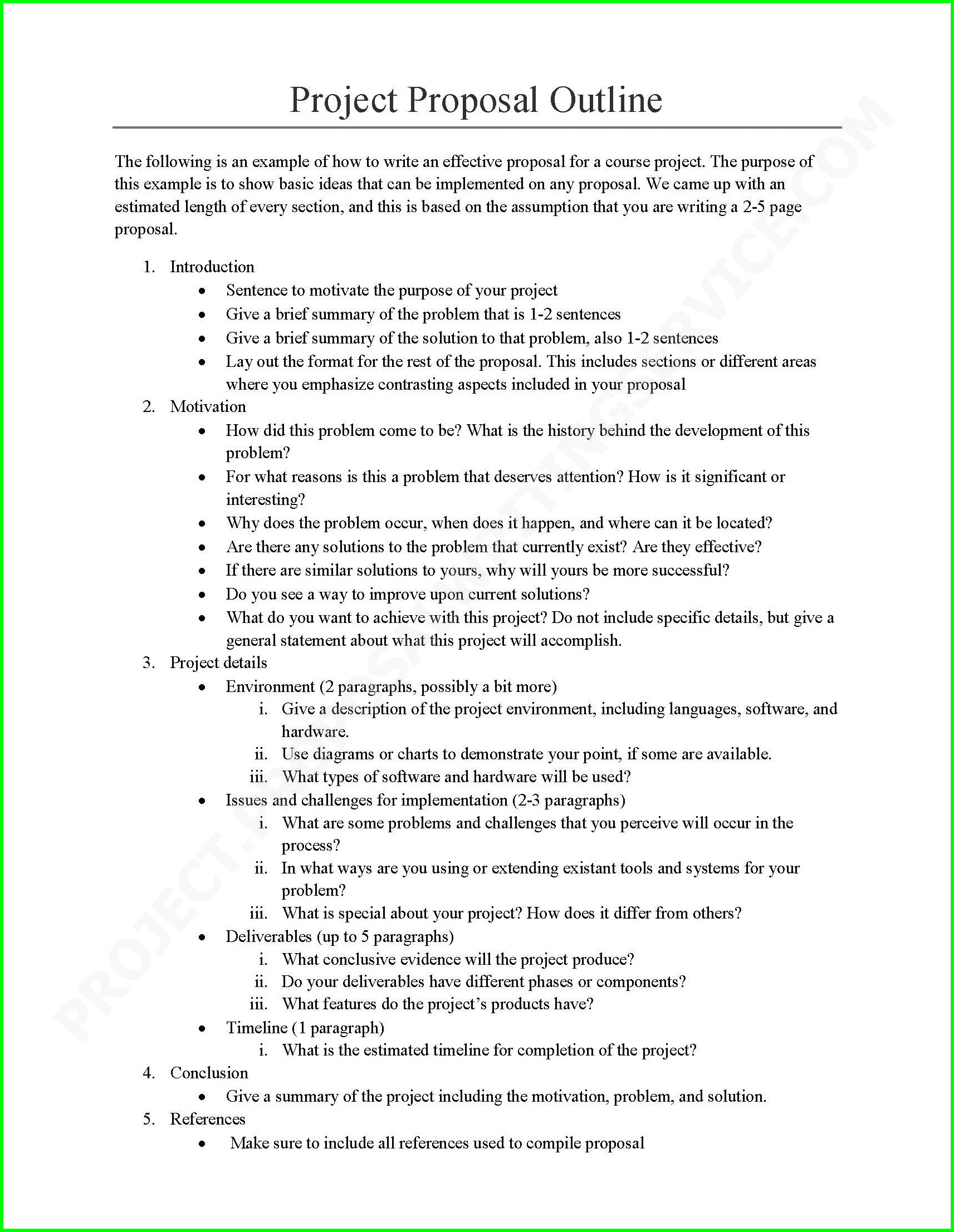 Sample Proposal Template For Project  Monzaberglaufverband Intended For Engineering Project Proposal Template