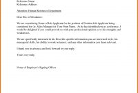 Sample Recommendation Letter From Employer Appeal Letters Reference regarding Template For Letter Of Recommendation From Employer