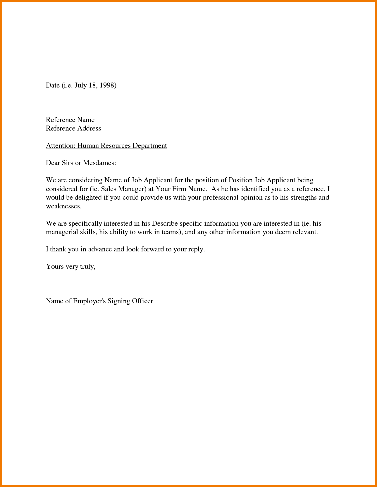 Sample Recommendation Letter From Employer Appeal Letters Reference With Regard To Letter Of Recomendation Template