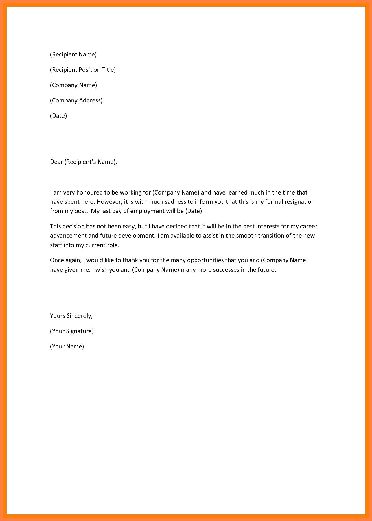 Sample Resignation Letter Singapore  Corpus Beat Inside Template For Resignation Letter Singapore