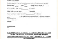 Self Employment Letter Template Proof Income Verification From with regard to Proof Of Income Letter Template