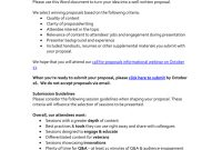 Session Proposal Template  National Alliance For Public Charter inside Call For Proposals Template